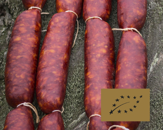 Chorizo asturiano curado