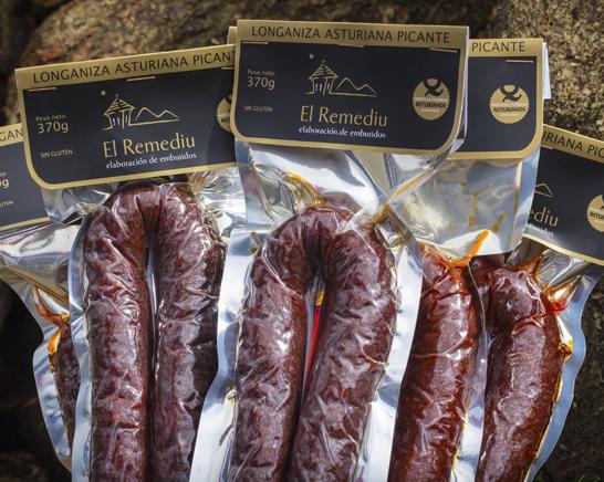 Longaniza asturiana dulce y Longaniza asturiana picante