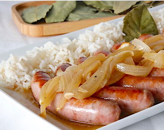 Receta de salchichas con arroz